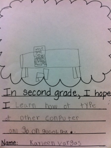 Second grader aspires to master online document sharing.