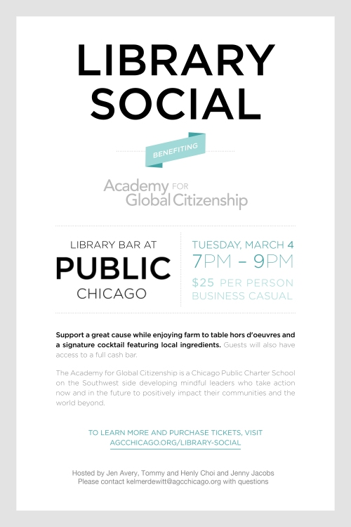 Library Social for AGC at PUBLIC Chicago