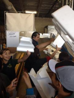 Recycling styrofoam!