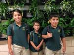 Brothers Ricky (6th grade) Nicky (5th grade) and Garry (3rd grade) are also celebrating their first year in the same building!