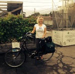 AGC's amazing case manager and founding special education teacher, Helma, biked from Lincoln Park for the 2nd day of school, how very Dutch of her!