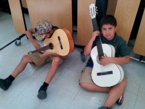 Agc students with guitars
