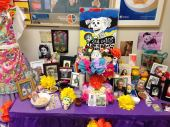 This altar was set up on Monday, and by Wednesday, it is almost full.