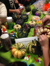 Fall crafts and fun accompanied the meal.