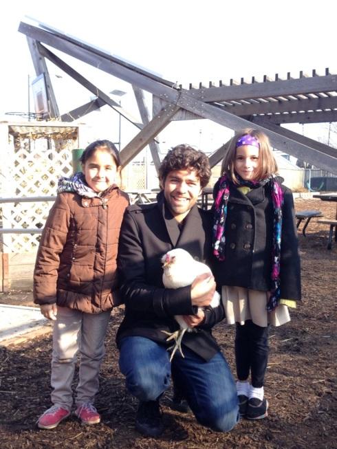 Adrian, kids & #schoolyardchicken