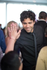 Actor Adrian Grenier and student Photo Credit Kelly Allison Photography