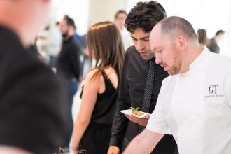 LtoR Adrian Grenier with Chef Giuseppe Tentori Photo Credit Galdones Photography