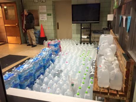 water in hallway