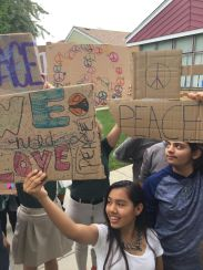 AGC students at a recent Peace Rally